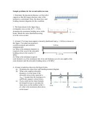 Sample problems for the second midterm exam