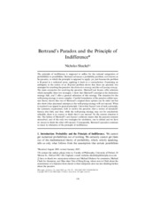 Shakel - Bertrand's Paradox and Indifference