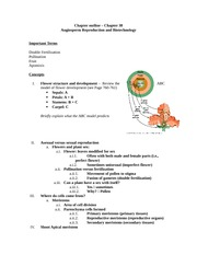 Angiosperm Reproduction and Biotechnology