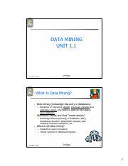 Data Mining- Study Material pdf - Srinivas Institute of