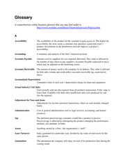 Glossary - An Introduction to Business 9th ed