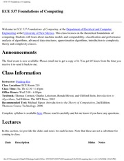 ECE 537 Foundations of Computing