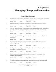 FOM - Chapter 9 - Innovation and organizational Change.doc