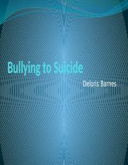 Bullying to Suicide