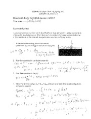 P-Chem II Course HWK 1 Solutions
