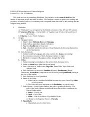 Eastern Religions LectureTwo_Ch_2_Hinduism_part1_Online_StudyGuide(1).docx