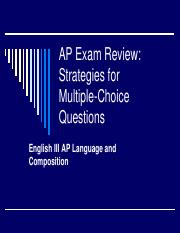 AP Exam Review Multiple Choice Questions Strategies