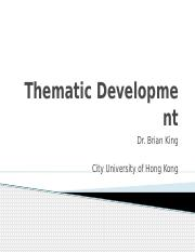 Module 9 - Thematic Development