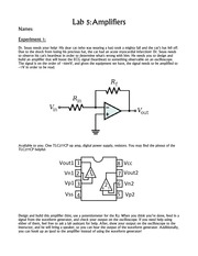 Lab 5- Amplifiers
