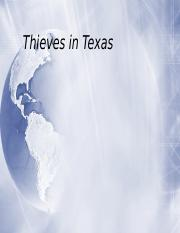 Thieves in Texas.ppt