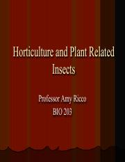 Horticulture Related Insects