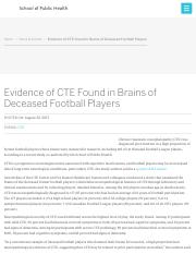 Evidence of CTE Found in Brains of Deceased Football Players » SPH | Boston University.pdf