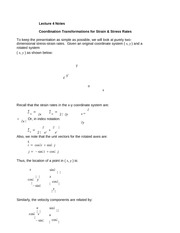 Lecture 4 Notes Coordination Transfmormations