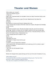 Theater and Women
