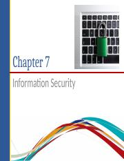 Chapter 7 Information Security(updated)