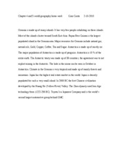 Chapter 4 and 5 world geography home work          Gino Canta       2