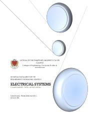 BU ASSIGNMENT (Electrical Systems)