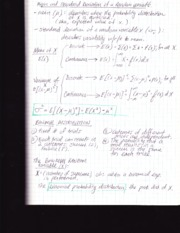 Stat 110 notes-mean standard deviation of random variable