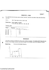 MATH 2110-Statistics Notes on Frequency Tables and Histograms