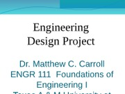 ENGR 111 Design Project Summer 2012