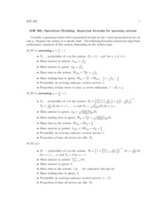 Queueing Formulae Summary