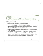 Mechanics of Financial Accounting - Summer 2014