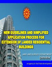 NEW GUIDELINES AND SIMPLIFIED APPLICATION PROCESS FOR EXTENSION OF LANDED RESIDENTIAL BUILDINGS