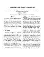 A Survey of Game Theory as Applied to Network Security.pdf
