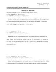 week 3 bugusa assignment team b This pack of law 421 week 3 bugusa, inc worksheet shows the solutions to the following problems:  essay about week 3 bugusa assignment team b.