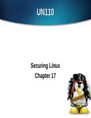UN110 - Chapter 17 Securing Linux
