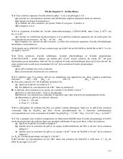 Exercices supplementaires Chapitre 5 Acide-Base