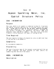 Aspeon Sparkling Water (Complete Answers)