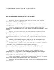 PH1000 Worldviews _Week 4-Additional Questions Discussion