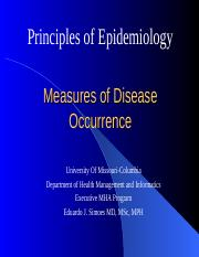 8544- 2- Measures of Disease Occurrence