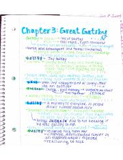 Chapter 3 Gatsby Notes