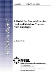 A Model for Ground-Coupled Heat and Moisture Transfer from Buildings.pdf