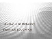 Week 13 Sustainable education