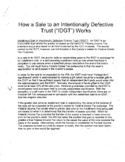 Intentionally Defective Grantor Trust Diagram | How Sale To Idgt Works A How A Sale To An Intentionally Defective