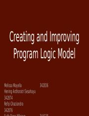 Creating and Improving Program