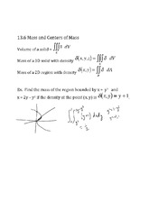Mass and Centers of Mass notes