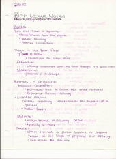 HUM DEV 210 Lecture Notes on Birth
