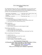 Syllabus undergraduate thesis writing