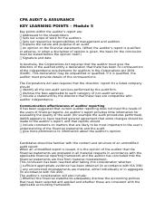 CPA Auditing_Key Learning Points Module 5.docx