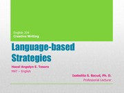 Language-based Strategies