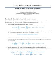 STATISTICS 1165Y2018 : statistics - Universiteit van Amsterdam -