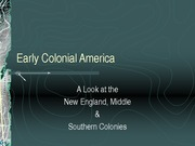 American History - Colonies - Class Notes
