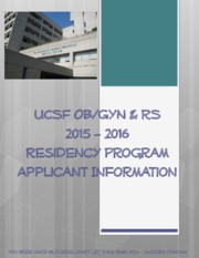 UCSF OBGYN Residency Application Handbook