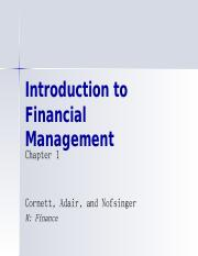 Chapter 01 Introduction to Financial Management.ppt
