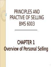 chapter 1 personal selling