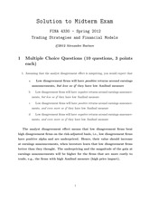 Sample Midterm 3 - Answers